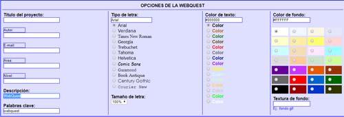recursos para generar materiales en el aula webquest
