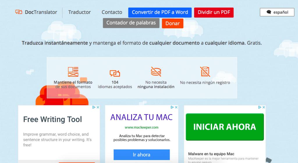 DocTranslator traductor online