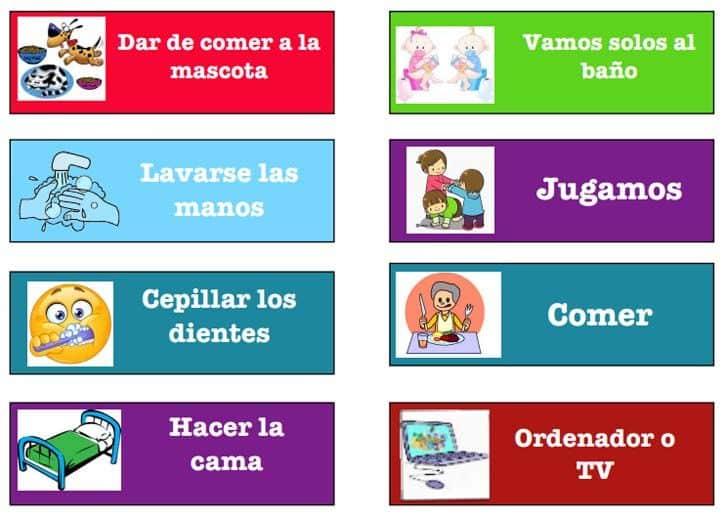 Recursos para las rutinas diarias de los alumnos de Infantil 6