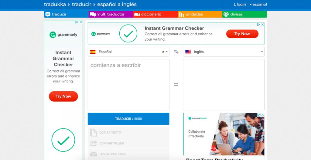 Tradukka para traducir online