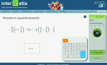 Ejercicios de Matemáticas adaptados al alumno con InterMatia