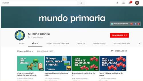 YouTube mundo primaria