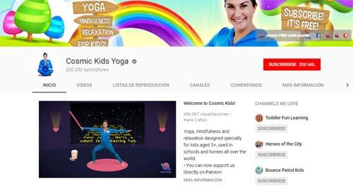 Cosmic Kids Yoga: canales de YouTube para Infantil y Primaria