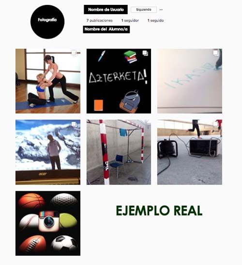 Educación Física e Instagram