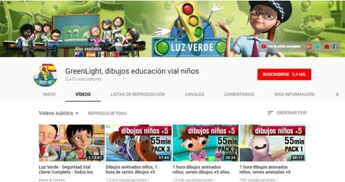 GreenLight: canales de YouTube para Infantil y Primaria