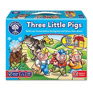 los tres cerditos: juegos de mesa educativos
