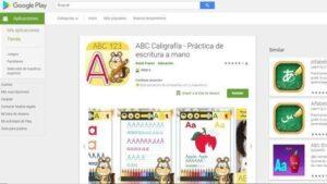 app infantil educación caligrafía