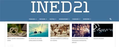 INED21, blog para la formación docente