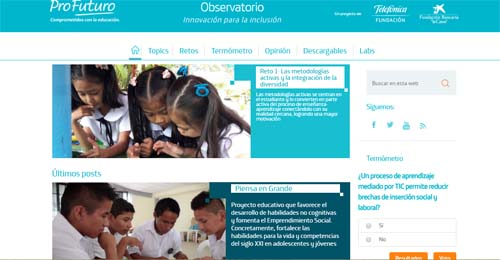 Innovación para la inclusión, blog para la formación docente