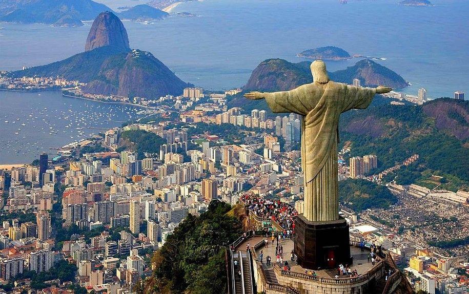 La estatua Cristo Redentor, en Río de Janeiro (Brasil)
