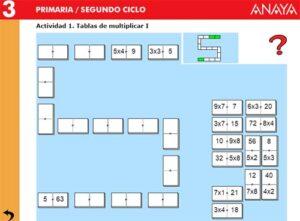 50 juegos interactivos para repasar y aprender las tablas de multiplicar 54