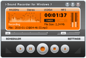 Grabar audio con i-Sound Recorder