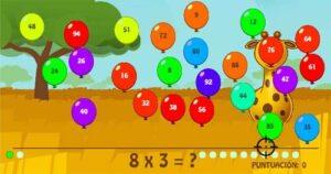45 juegos interactivos para repasar las tablas de multiplicar 44