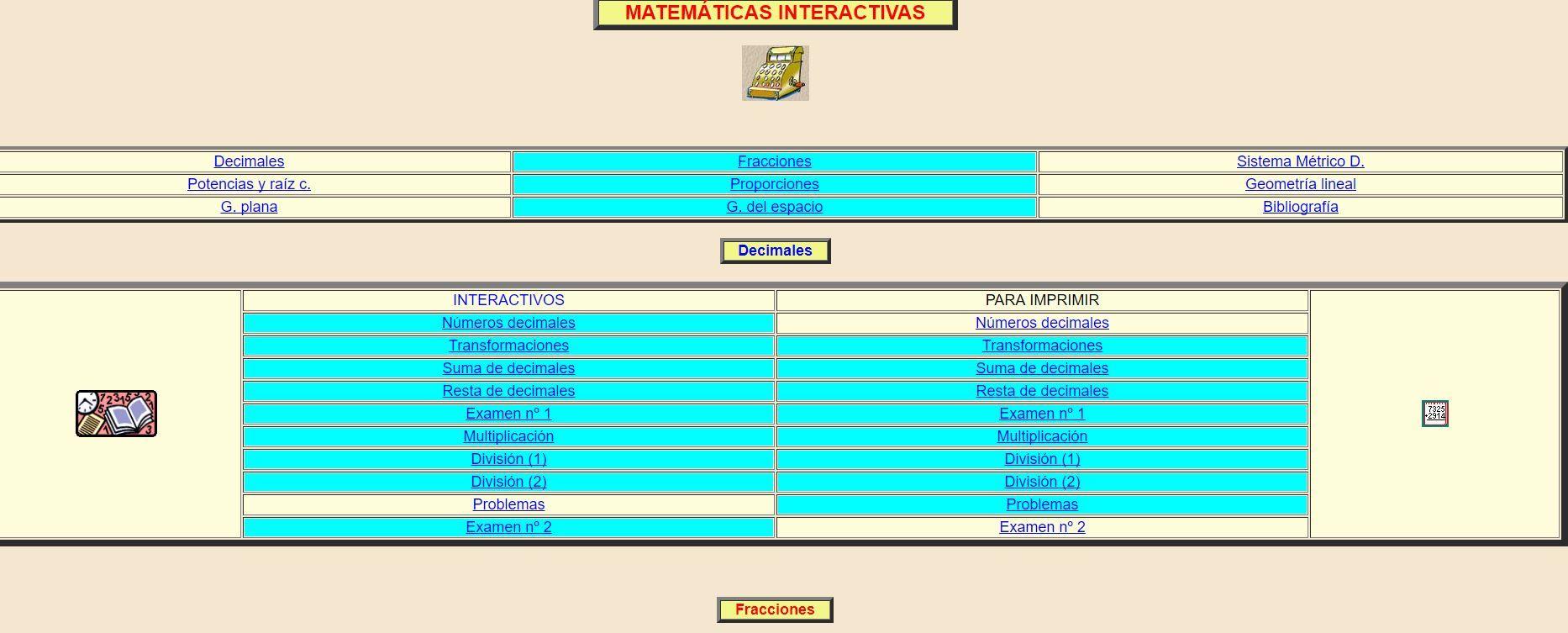 matemáticas interactivas-webs para aprender matemáticas