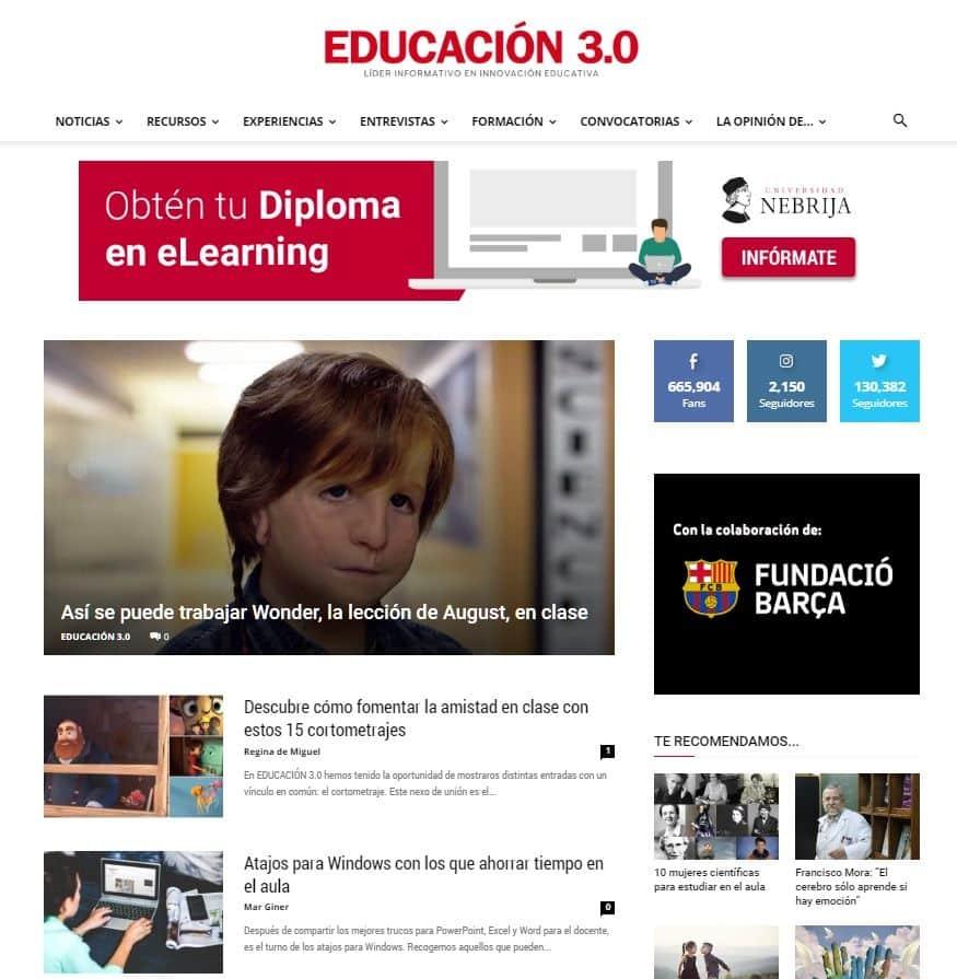 EDUCACIÓN 3.0 web