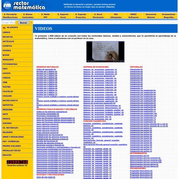 sector matematica - webs para aprender matematicas