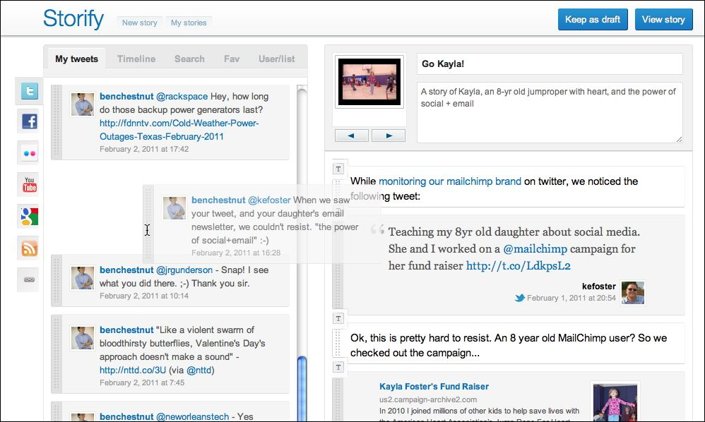 storify - herramientas colaborativas