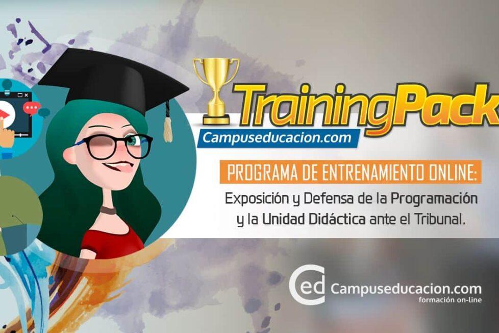 Training Pack, el programa formativo de Campuseducacion.com para preparar las oposiciones 1