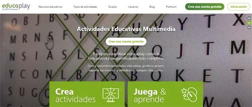Aplicaciones gratuitas para el aula: educaplay