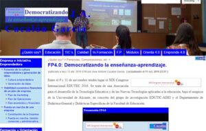 Formación profesional: FP4.0: Democratizando la enseñanza y aprendizaje