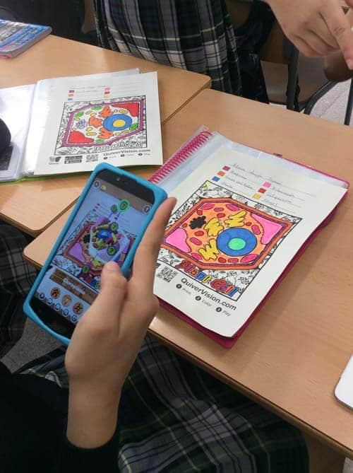 Estructura celular y realidad aumentada con la app QuiverVision