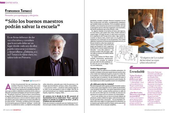 Francesco Tonucci revista EDUCACIÓN 3.0
