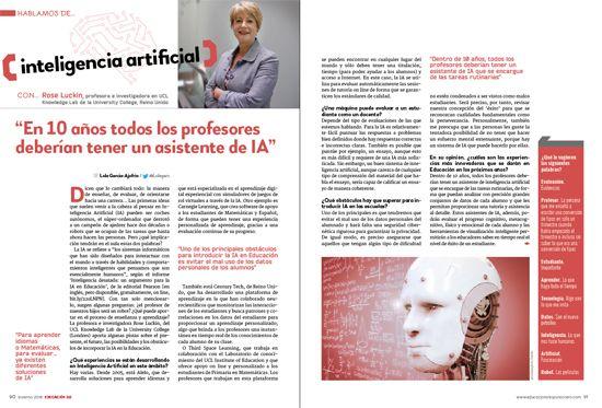 revista EDUCACIÓN 3.0 inteligencia artificial