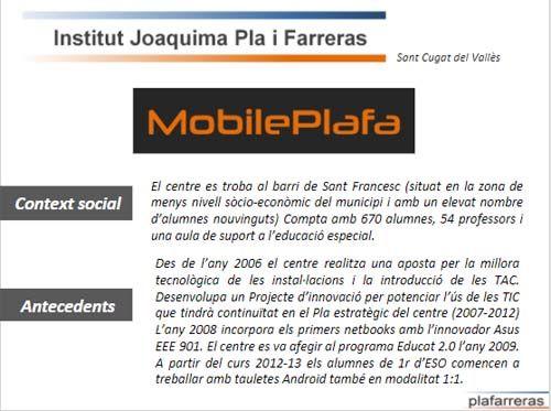 MobilePlafa - prácticas educativas con las TIC