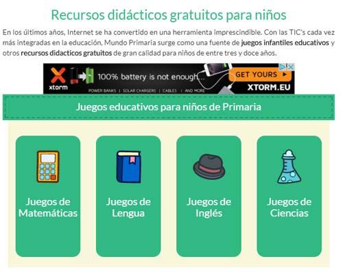 Aplicaciones gratuitas para el aula: Mundo Primaria