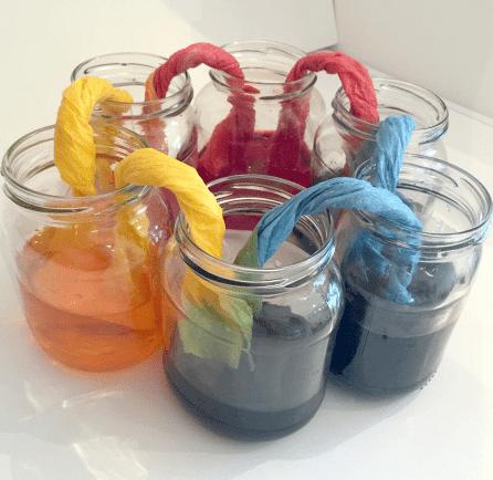 mezcla de colores: experimentos científicos en Primaria