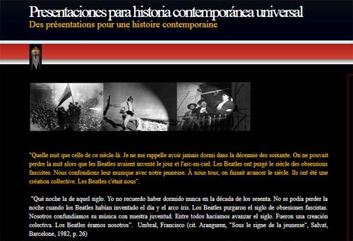 Presentaciones para Historia Contemporánea Universal