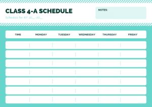 herramienta horario clase escuela