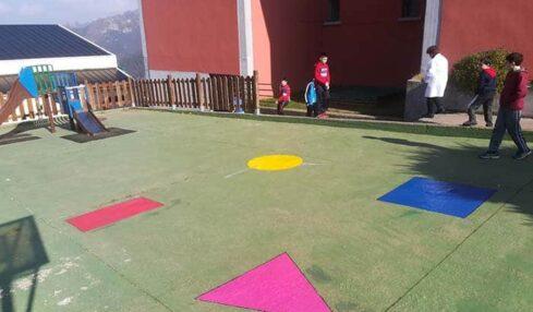 Patio del colegio, espacios matemáticos
