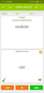app ortografía para aprender normas de acentuación