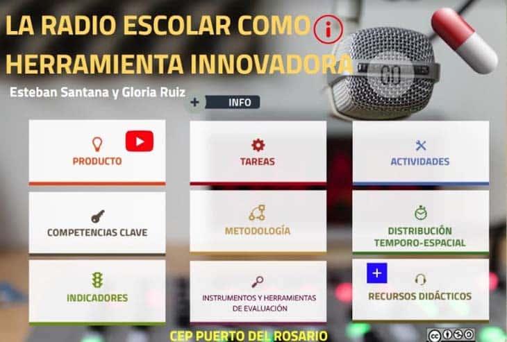 canvas para promover proyectos de radio escolar