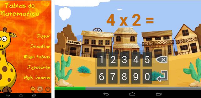 Juego de tablas - Aplicaciones gratuitas de matemáticas