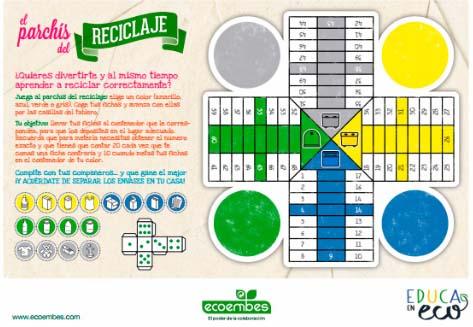 Parchís Ecoembes: Día Internacional del Reciclaje