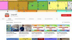 Canal de Youtube sobre Educación Física