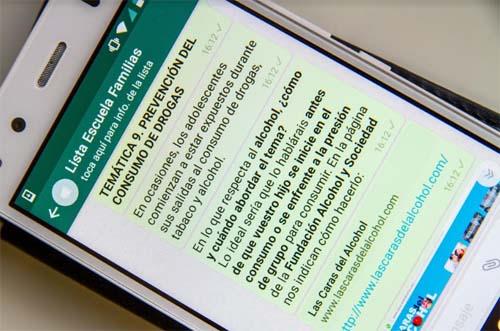 Una escuela de familias vía WhatsApp