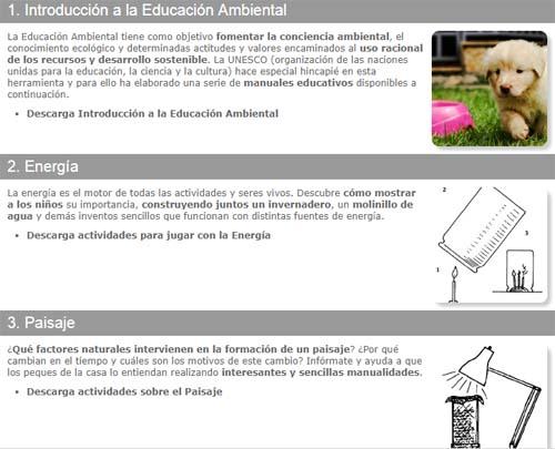 recursos de educación ambiental para trabajar el concepto de sostenibilidad