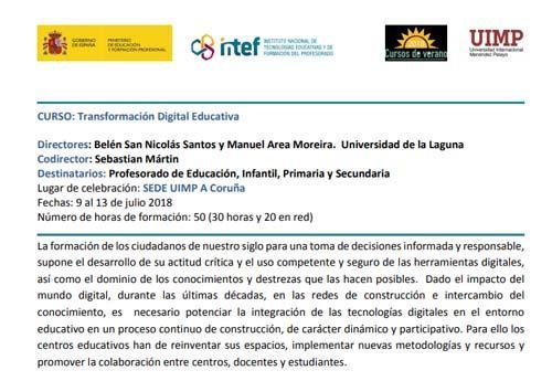Transformación digital educativa