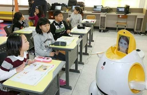 Profesores robot en Corea del Sur