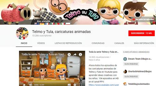 Canal YouTube Telmo y Tula