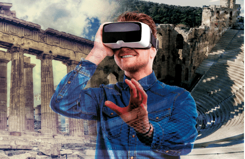 Acróplis de atenas y realidad virtual