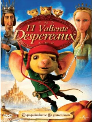 El valiente Desperaux: películas para transmitir el amor por los libros