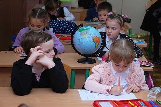 Niños concentrados