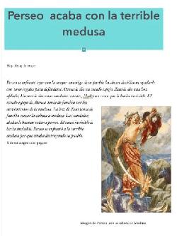 Experiencias filosóficas en Primaria- mito de Perseo
