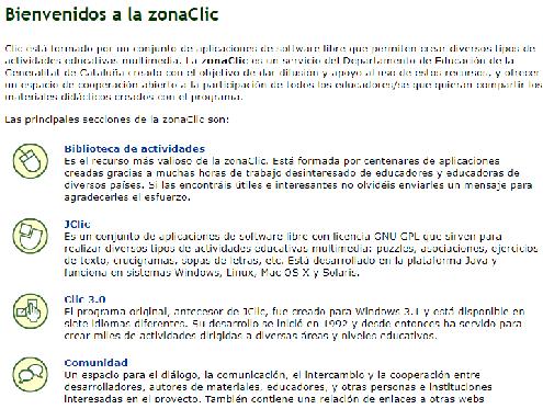 zonaclic: recursos tic para estudiar