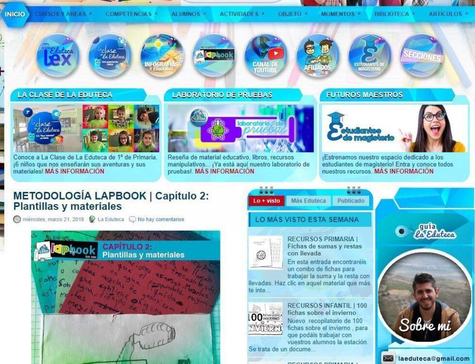 La Eduteca plantillas para crear lapbook