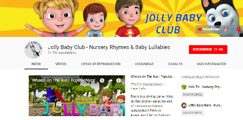 Jolly Baby Club: canales de YouTube para Infantil